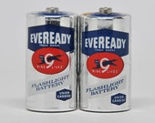 Size C Vintage SILVER EVERREADY Batteries