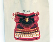 "Typewriter Art - Cotton Tote bag - ""WORD."""