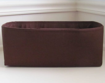 """MEDIUM Purse Insert ORGANIZER Purse Shaper (4""""-5"""" Width/Depth)  . . Chocolate Brown.. .. Strong and Durable -  Inside Pockets Only"""