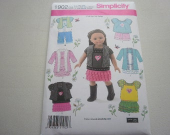 Pattern Doll Outfits 18 inch Doll 7 Outfits Simplicity 1902