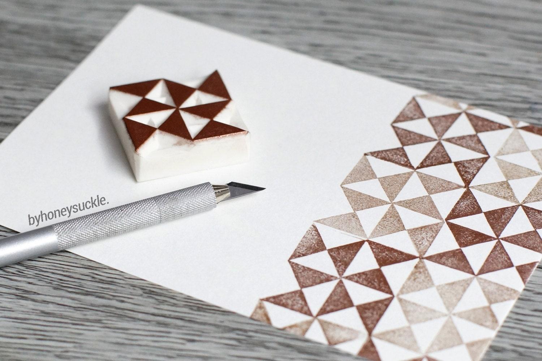 Pattern stamp geometric triangle pinwheel