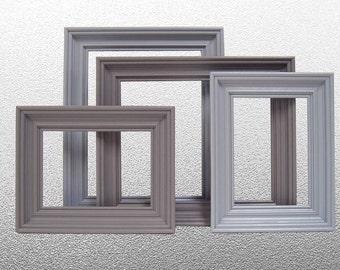 Home Decor Gray Grey Picture Frame Set Wall Art Photography 5x7 8x10 Modern Wedding Nursery Decor