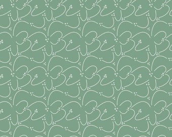 Valencia Squiggle Green by Lila Teuller for Riley Blake, 1/2 yard