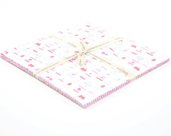 """Lovey  Dovey 10"""" Squares Stacker Bundle by Doodlebug Designs for Riley Blake, 21 pieces"""