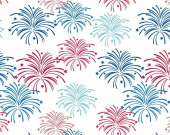 Star Spangled Fireworks Multi by Doodlebug Designs for Riley Blake, 1/2 yard