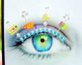 Bubble Bath Eyelash Jewelry - false eyelashes with rubber ducks
