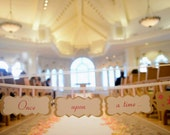 Once Upon A Time AISLE SIGN Fairy Tale Wedding Theme