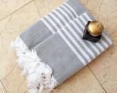 Gray Towel Set Turkish Beach Towel Bath Towel Organic Towel Turkish Towel Peshtemal Fouta Bridesmaid Gift Wholesale Towel Bachelerotte Gift