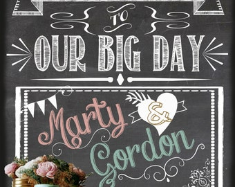 Customized 16x20 Wedding Welcome Chalkboard Sign