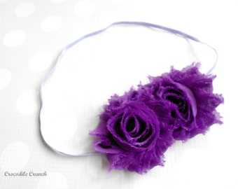 Rose Headband in Purple and Lavender