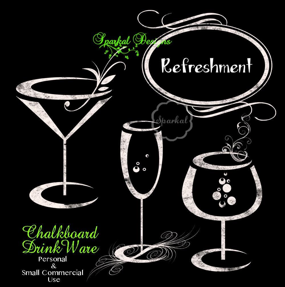 Chalkboard wine glasses clipart chalk clipart rustic wedding for Wine chalkboard art