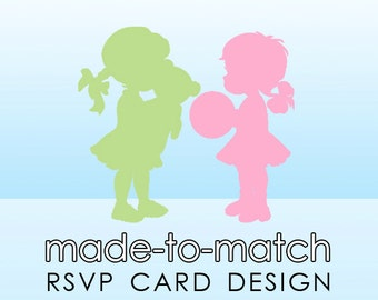 Made-to-Match RSVP Card . Digital File - to coordinate with SSC Card Design
