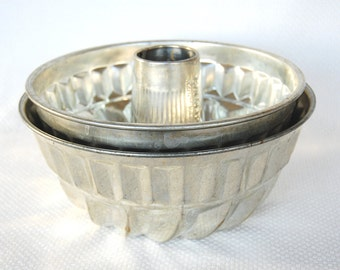 Choice of Vintage Kaiser Kuglehof pans Fluted STEEL Tube Cake Pan Bundt Style Cake Pan Made in West Germany