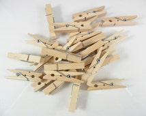 """24 Clothespins 1 3/4"""" Unfinished Wood Miniature"""