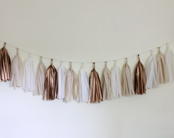 Tissue Tassel Garland Kit - Rose