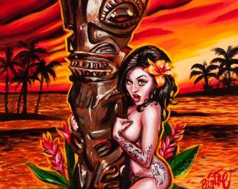 BigToe's Marquesan Maiden Limited Edition Art Print