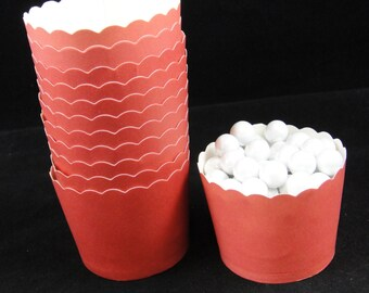 Red  Baking Cups, Candy Cups, Dip Cups, Nut Cups, Weddings, Party Cups, Candy Buffets, Wedding Cupcakes, Favor Cups, QTY 12