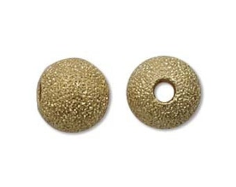 Stardust-8mm Round Beads-Gold-Quantity 12