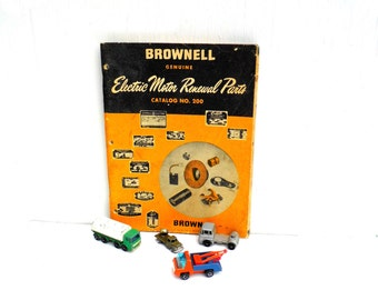 Vintage Brownell Motor Parts Catalog, 1960s Brownell Car Parts Booklet, Mid Century Ephemera