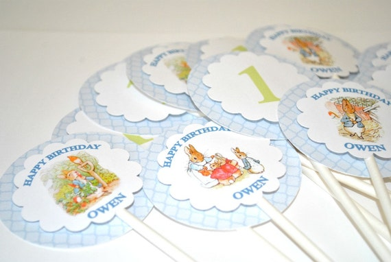 Beatrix Potter Cupcake Toppers