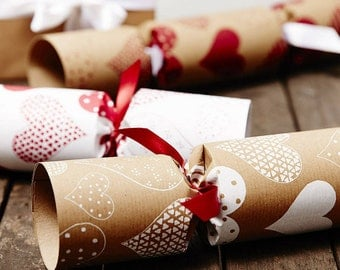 Recycled Heart Christmas Crackers