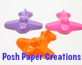 12 sets of 4 airplane crayons - in cello bag tied with ribbon - choose your colors
