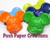 12 Fun mouse crayons - in cello bag tied with ribbon