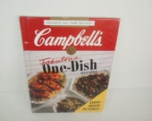Vintage Book, Campbells Fabulous One-Dish Recipes , Favorite Brands All time Recipes, Hardcover Cookbook