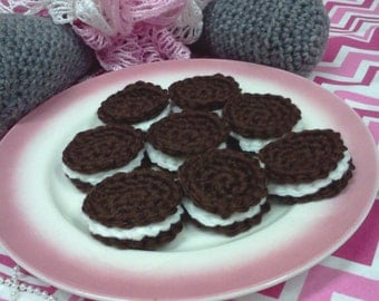 Pretend Crochet Chocolate Stuffed Cookies - Set of 8