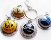 Beer Keychain Men Guy Gift Birthday Corona Guinness Samuel Adams Others Backpack Clip Recycled Upcycled