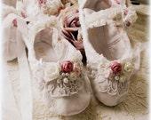 Flower Girl, Junior Bridesmaid, Bridal, Wedding ballet slippers,  Customized, Made to Order