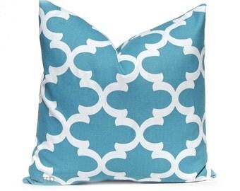 Pillow, Decorative Pillow, Toss Pillow,  Blue Pillow, Throw Pillow Cover Cushion Cover Toss Pillow One All Sizes Blue White Tiles