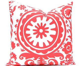 One Throw Pillow Cover - Coral Pillow Covers - Decorative Pillow Cover - Sofa Pillows - Coral Bedding - Dorm Decor - Girls Bedroom