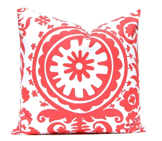 Coral Pillows Coral Throw Pillow Cover by CompanyTwentySix on Etsy