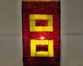 Stained Glass Mosaic Valentines Day Table Top Red Candle Holder Decorative Vase Centerpiece