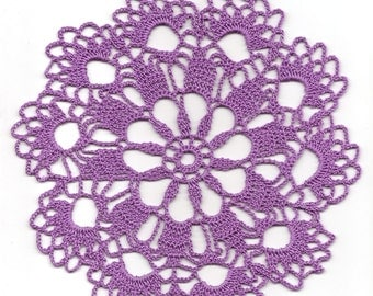 SALE Crochet doily, lace doily, table decoration, crocheted place mat, centre piece,doily tablecloth, table runner, napkin, purple