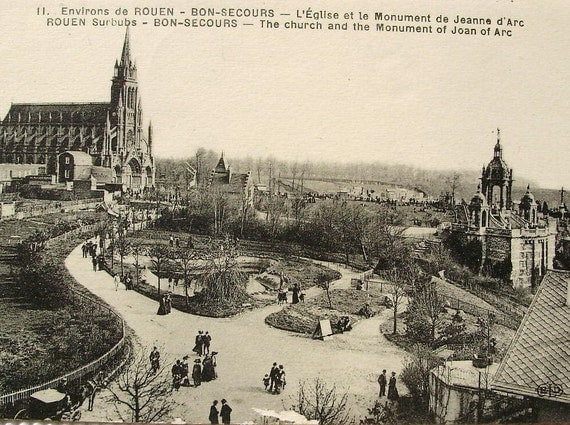 Rouen haute normandie normandy france vintage postcard for Haute normandie rouen