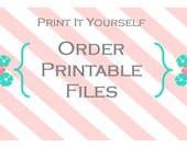 Printable File Orders - No Shipping Charges
