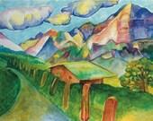 Swiss Landscape Greeting Card