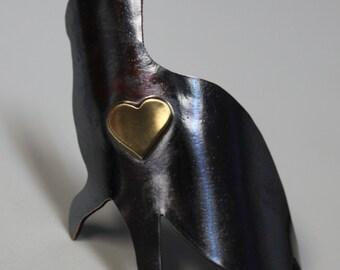 Black Cat Heart Head Badge
