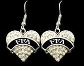 FFA Heart Charm Earrings, Necklace or Bracelet