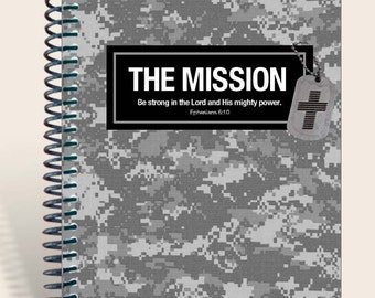 Armed Forces Gift / Personalized Prayer Journal / Military Gift - Gray Camo