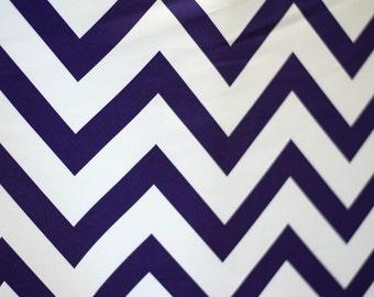 5 feet x 6 feet Purple Grape Chevron Fabric Photography Backdrop