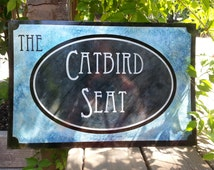 """Custom etched metal business sign 12""""x18"""""""