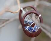 """5/8"""" / 16mm to  3/4"""" / 19mm Cielo Oval Hoop Organic Wood Stone Metal Gauged Earrings Plugs *CUSTOM*"""