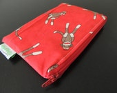 Sock Monkeys  Zippered Reusable Snack Bag by GoSewEco