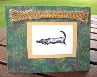 Safari Themed Crocodile Card - Smile Crocodile  for  Child - Adult - Thinking of You - Just for Fun