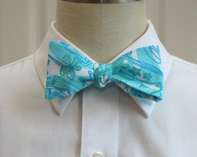 Alpha Delta Pi Bow Tie, lilly sorority print, sorority sweetheart bow tie, licensed sorority ADPi print, ADPi formals bow tie, self-tie