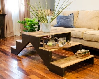 """Step coffee table / 60"""" long x 28"""" wide and 18"""" high"""