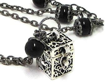 Inspirational Jewelry / Prayer Box Necklace / Secret Message Necklace / Inspirational Jewelry / Prayer Box Jewelry / Box Locket